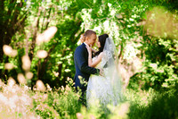 The bride and groom in nature, decor, peonies, flowers, lifestyle, marriage, family, love